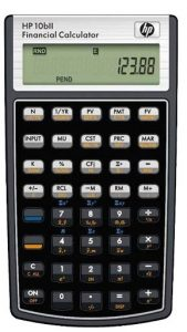 Picture of financial calculator